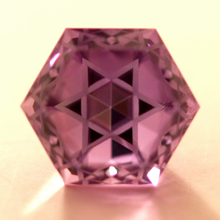 Amethyst Star of David Cut Gemstone