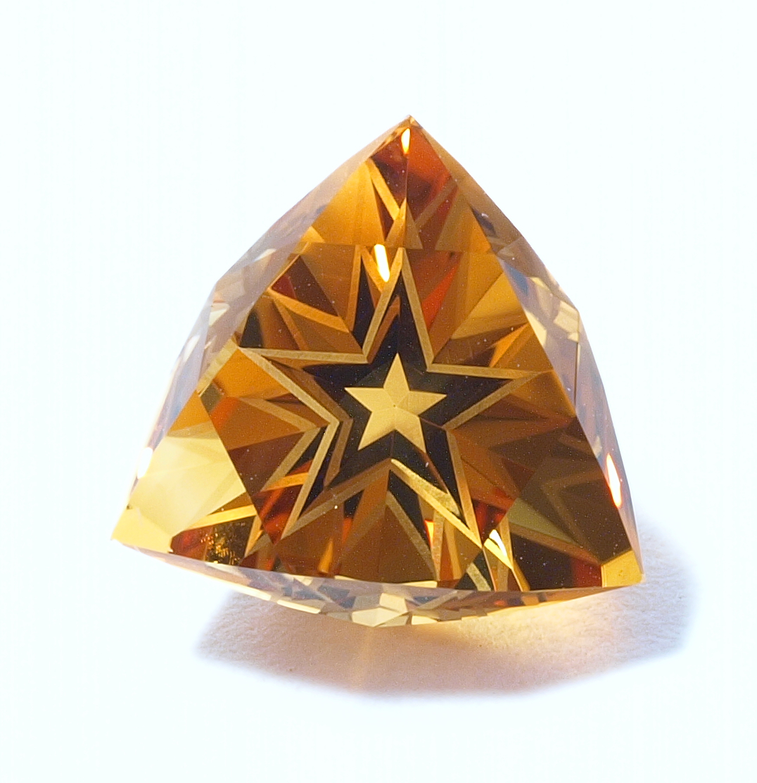 Citrine Quartz Tri-Star Cut Gem