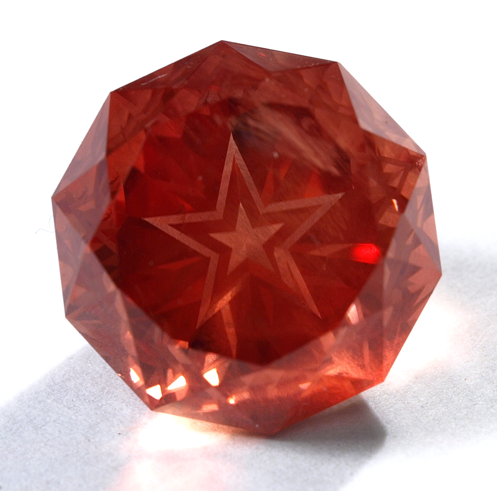 Decagon Star Cut Gem Sunstone