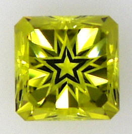 Lemon Quartz Square cut corner Star Halo cut Gemstone